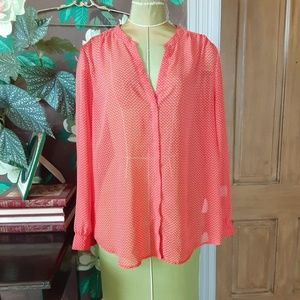 OLD NAVY Chiffon Red Top